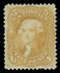 Stamps, (67) 1861, 5¢ buff...