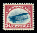 Stamps, (C3) Airmail, 1918, 24¢ carmine rose & blue...