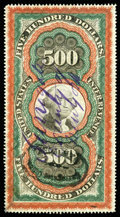 """Stamps, (R133) Documentary, 1871 Second Issue, $500 """"Persian Rug""""..."""