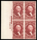 Stamps, (R3P4//R83P4) Revenue, 1862-71 First Issue, Selection of imprint plate number proofs on card...