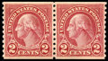 Stamps, (599A) 1929, 2¢ carmine coil, type II...