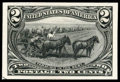 Stamps, (286TC4) 1898, 2¢ Trans-Miss., trial color plate proof on card...