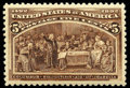 Stamps, (234) 1893, 5¢ Columbian...