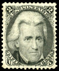 Stamps, (103) 1875 Re-issue of 1861-67 issue, 2¢ black...