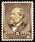 Stamps, (205C) 1882 Special Printing, 5¢ gray brown...