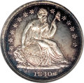 Proof Seated Dimes, 1840 10C No Drapery Dime PR65 Cameo NGC....