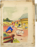 "Original Comic Art:Covers, Sari - ""The Winkle Twinkle Pup and Other Stories"" Children's BookCover Original Art (McLoughlin Brothers, 1941). ... (Total: 2Items)"