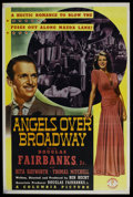 "Movie Posters:Drama, Angels Over Broadway (Columbia, 1940). Poster (40"" X 60""). Drama...."