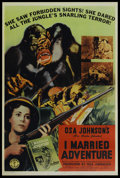 "Movie Posters:Adventure, I Married Adventure (Columbia, 1940). Poster (40"" X 60"").Adventure. ..."