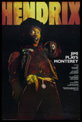 """Movie Posters:Rock and Roll, Jimi Plays Monterey (Pennebaker Associates, Ltd., 1986).Autographed One Sheet (27"""" X 41""""). Rock and Roll. ..."""