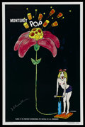 "Movie Posters:Rock and Roll, Monterey Pop (Leacock- Pennebaker, 1968). Autographed One Sheet(27"" X 41""). Rock and Roll. ..."