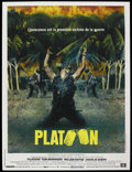"Movie Posters:War, Platoon (Orion, 1986). French Grande (47"" X 63""). War. ..."