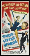 """Movie Posters:Musical, Three Little Words (MGM, 1950). Three Sheet (41"""" X 81""""). Musical. ..."""
