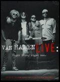 "Movie Posters:Rock and Roll, Van Halen Live: Right Here, Right Now (Warner Brothers, 1993).Video Poster (42"" X 58""). Rock and Roll. ..."
