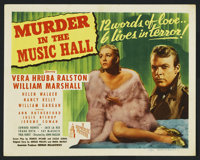 "Murder in the Music Hall (Republic, 1946). Title Lobby Card (11"" X 14""). Mystery"