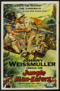 "Movie Posters:Adventure, Jungle Man-Eaters (Columbia, 1954). One Sheet (27"" X 41"").Adventure. ..."
