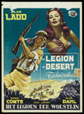 "Movie Posters:Adventure, Desert Legion (Universal, 1953). Belgian (14"" X 19""). Adventure...."