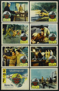 """Movie Posters:War, Battle of the Coral Sea (Columbia, 1959). Lobby Card Set of 8 (11""""X 14""""). War. ... (Total: 8 Items)"""