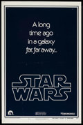 "Movie Posters:Science Fiction, Star Wars (20th Century Fox, 1977). One Sheet (27"" X 41"") Style BTeaser. Science Fiction. ..."