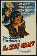 "Movie Posters:Documentary, The True Glory (Columbia, 1945). One Sheet (27"" X 41"").Documentary...."