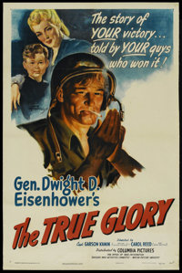 "The True Glory (Columbia, 1945). One Sheet (27"" X 41""). Documentary"
