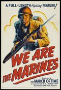 "Movie Posters:War, We Are The Marines (RKO, 1942). One Sheet (27"" X 41""). WarDocumentary. ..."