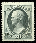 Stamps, (165) 1873, 30¢ gray black...