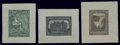 Stamps, Newfoundland, 1931, 1¢-30¢ Re-engraved Pictorials, large die proofs on wove paper watermarked Coat of Arms...