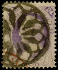 Stamps, (153) 24¢ Bank Note, New York Foreign Mail Cancels...