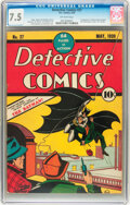 Golden Age (1938-1955):Superhero, Detective Comics #27 (DC, 1939) CGC VF- 7.5 Off-white pages....