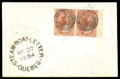 Stamps, (4d) Canada 1852, 3d red, thin paper...