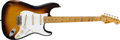 Musical Instruments:Electric Guitars, 1957 Fender Stratocaster Sunburst Guitar, #25159....