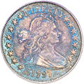 Early Half Dollars, 1797 50C AU58 PCGS. CAC. O-101a, High R.4....
