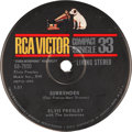 "Music Memorabilia:Recordings, Elvis Presley ""Surrender""/""Lonely Man"" Living Stereo Compact 33Single (RCA 68-7850, 1961).... (Total: 2 Items)"