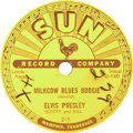 Music Memorabilia:Recordings, Elvis Presley Two Sun 78 rpm Singles (Sun 215 and 217, 1955)....(Total: 2 Items)