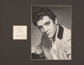 Music Memorabilia:Autographs and Signed Items, Elvis Presley Autograph and Photo....