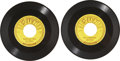 Music Memorabilia:Recordings, Elvis Presley Two Sun 45 rpm Singles (Sun 210 and 215, 1954-55)....(Total: 2 Items)