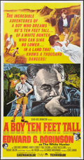 "Movie Posters:Adventure, A Boy Ten Feet Tall (Paramount, 1965). Three Sheet (41"" X 81"").Adventure.. ..."