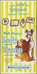 "Movie Posters:Adventure, Lady and the Tramp (Buena Vista, R-1962). Three Sheet (41"" X 81"").Adventure.. ..."