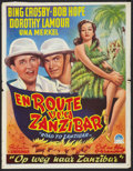 "Movie Posters:Comedy, Road to Zanzibar (Paramount, 1948). First Post War Belgian (14"" X 18.5""). Comedy.. ..."