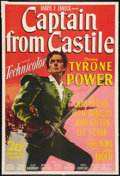 "Movie Posters:Adventure, Captain from Castile (20th Century Fox, 1947). One Sheet (27"" X40""). Adventure.. ..."