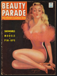 "Beauty Parade (Beauty Parade Inc., 1954). Magazine (Multiple Pages, 8.5"" X 11.5""). Sexploitation"