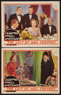 """Movie Posters:Crime, The Last of Mrs. Cheyney (MGM, 1937). Lobby Cards (2) (11"""" X 14"""").Crime.. ... (Total: 2 Items)"""