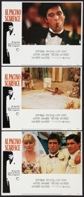 """Movie Posters:Crime, Scarface (Universal, 1983). Lobby Cards (3) (11"""" X 14""""). Crime..... (Total: 3 Items)"""
