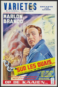 "Movie Posters:Drama, On the Waterfront (Columbia, 1955). Belgian (14"" X 21""). Drama....."