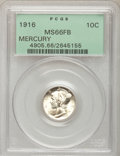 1916 10C MS66 Full Bands PCGS. PCGS Population (326/97). NGC Census: (325/96). Mintage: 22,180,080. Numismedia Wsl. Pric...