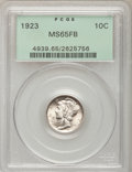 1923 10C MS65 Full Bands PCGS. PCGS Population (289/214). NGC Census: (182/120). Mintage: 50,130,000. Numismedia Wsl. Pr...