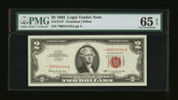 Fr. 1513* $2 1963 Legal Tender Star Note. PMG Gem Uncirculated 65 EPQ