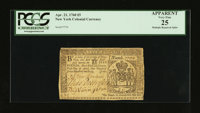 New York April 21, 1760 £5 PMG Apparent Very Fine 25