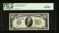 Fr. 2004-K $10 1934 Light Green Seal Federal Reserve Note. PCGS Gem New 65PPQ